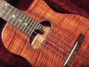 custom koa ukulele, jazz