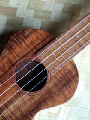 custom ukulele, detail