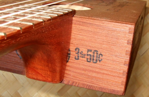 custom ukulele, neck detail