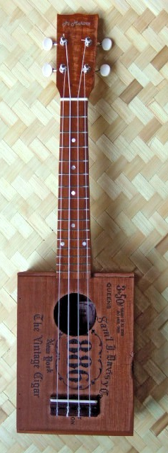 custom ukulele, cigar