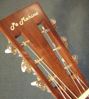hawaiian guitar, headstock detail