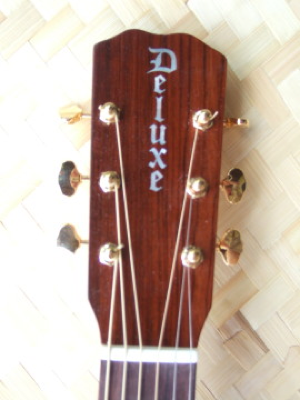 custom guitar, deluxe headstock detail