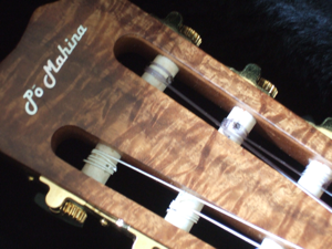 custom guitar headstock detail
