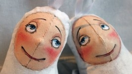 Акція!!Текстильна авторська інтер′єрна іграшка-підвіска «Янголятко»