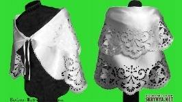Болеро (гильоширование)- накидка, безрукавка