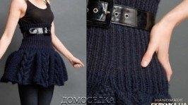 Вязаная теплая юбка
