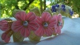 Обруч «Рожеві квіточки»