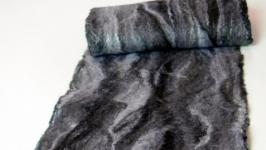 Валяный шарф Ретро зимний двухсторонний