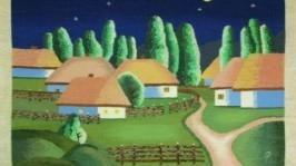 Гобелен «Вечірнє село»