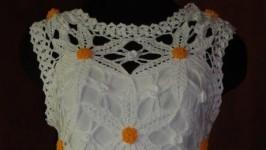 Белое нарядное платье РОМАШКА (ручная работа)