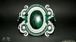 Сутажный браслет «Emerald»