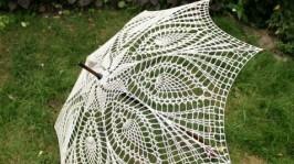 Зонтик винтажный вязанный
