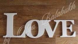 «Декоративная свадебная надпись Love»