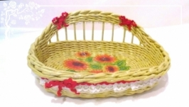 Хлебница сухарница концетница плетеная