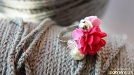 Кольцо ручной работы «Розовый ветер»