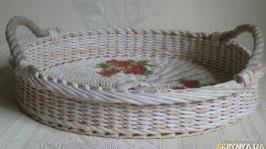Поднос плетеный