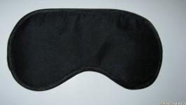 Черная мужская маска для сна. Ручная работа!