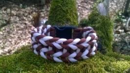 «Павучок» браслет з паракорду коричнево білий