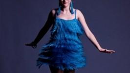 Платье для бальных танцев (латина) Blue Rain