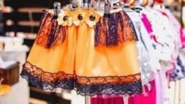Нарядная Юбка Цветок оранжевый мак эксклюзивная Королева Маковка