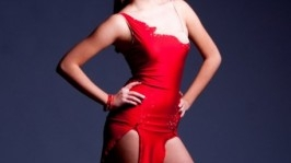Платье для бальных танцев (латина) Passion flower
