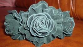 «Обруч для волос Зелені троянди»