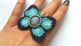 Кольцо «Голубая бабочка»
