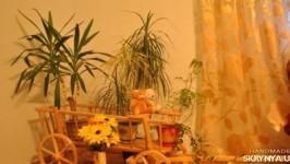 Дерев′яний віз для дизайну саду чи домуДеревянный вoз для дизайна сада или