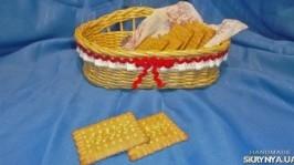 Хлебница сухарница плетеная