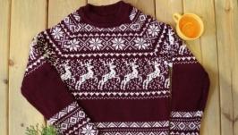Свитер ′Норвежские олени′