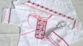 Хрестиний набір для дівчинки Рожеві дзвоники.