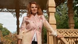 Жакет валяный Розовая нежность