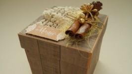 Новогодняя коробочка-альбом Magic box