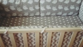 Комплект в кроватку с совушками