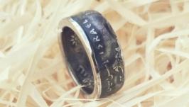 Кольцо из монеты 5 лир Израиль
