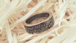 Кольцо из монеты 12 шекеля Израиль