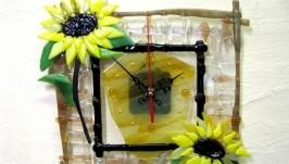 Часы Два подсолнуха