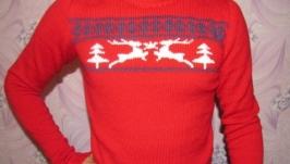 Чоловічий светр Олені взимку