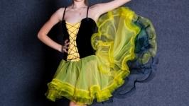 Платье для бальных танцев Мулен Руж латина