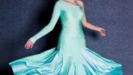 Платье для бальных танцев(стандарт) Tender mint