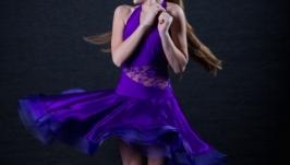 Платье для бальных танцев (латина) Purple heart