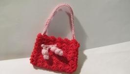 Миниатюрная красная сумка