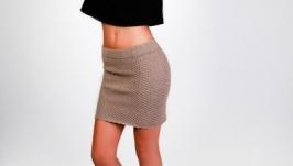 Вязаная юбка ручной работы