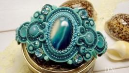 Сутажный браслет «Aquamarine»