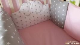 Комплект в кроватку с сьемными чехлами
