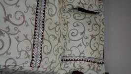 Постельное белье евро с кружевом и атласной лентой