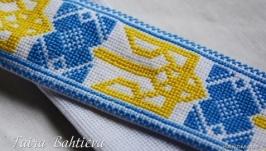 Жовто-блакитна краватка для хлопчика