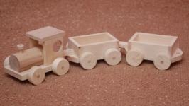 Игрушка деревянная Паровоз с вагонами