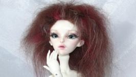 Парик для бжд куклы 14 Вишня в шоколаде