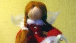Фея-Ангел валянная из шерсти (ручная работа - handmade)